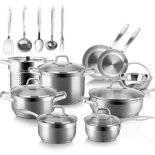 Duxtop Professional Stainless Steel Induction Cookware Set, 19PC...