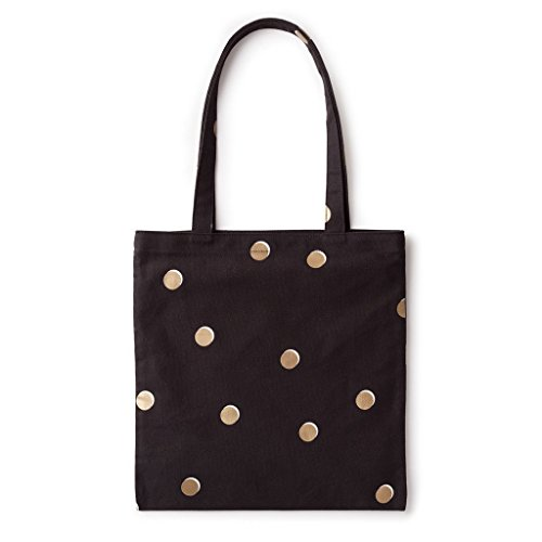 kate spade new york Canvas Book Tote - Scatter Dot, Black, Gold, White