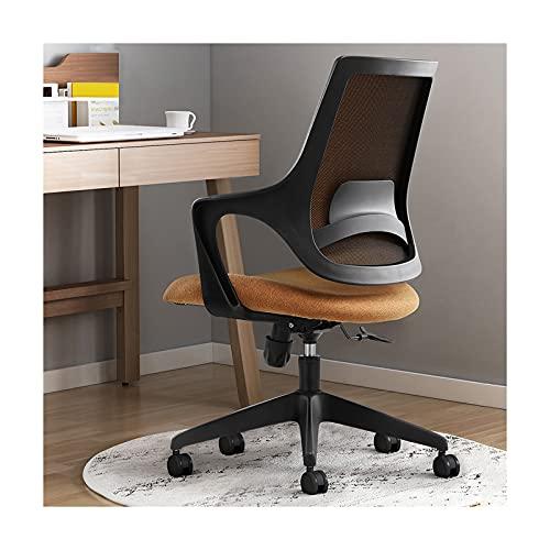 LWZ Home Office Schreibtischstuhl Stoff, bequemer Computerstuhl mit mittlerer Rückenlehne und Rädern, Verstellbarer drehbarer Arbeitsstuhl für Erwachsene Männer Frauen
