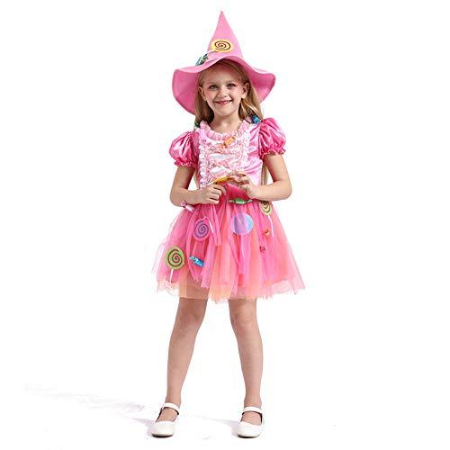 N / A Cosplay Regalo de la Novedad de Halloween Disfraz de los nios Vestido de Princesa de Cuento de Hadas loli Vestido de Bruja de Caramelo de Navidad Disfraz Body Height:90-105cm