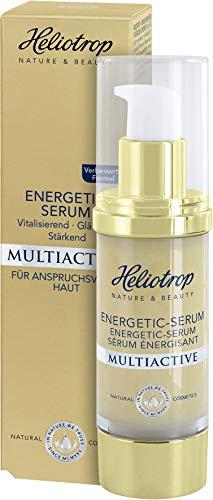 HELIOTROP Naturkosmetik MULTIACTIVE Energetic-Serums, Unterstützt die essenziellen Vitalfunktionen der Haut, Mindert die Faltentiefe, Vegan, 30ml