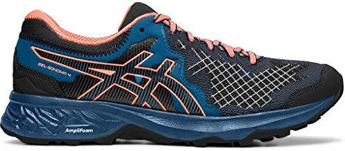 ASICS Zapatillas de running Gel-Sonoma 4 para mujer, negro (Negro/Coral Sol), 36 EU