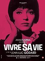 女と男のいる舗道Vivresa vie Film en douzetableauxヴィンテージフランス映画映画装飾ポスター壁キャンバス家の装飾寝室の装飾50x70cmフレームなし
