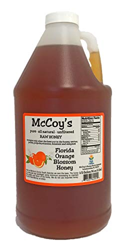 Raw Honey - Pure All Natural Unfiltered & Unpasteurized - McCoy's Honey Florida Orange Blossom Honey 6lb