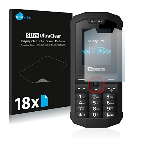 Savvies 18x Schutzfolie kompatibel mit Crosscall Spider X1 Bildschirmschutz-Folie Ultra-transparent