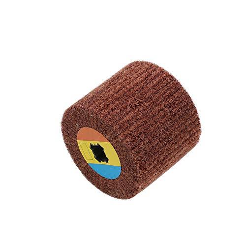 1 pieza de rueda de pulido de dibujo de alambre no tejido, almohadilla agria de nailon, cepillo de aleta abrasivo, 120x100mm, 40/60/80/120/180/240/320/400/600, grano 180