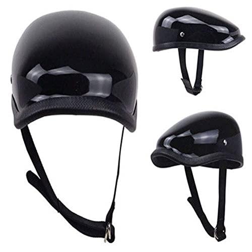 ACEMIC Brain-Cap · Motorcycle-Helmet Vintage Jet-Helmet Half Helmet Harley Retro Beret Motorcycle Helmet Open Face Helmet Motorbike Helmet FRP Material