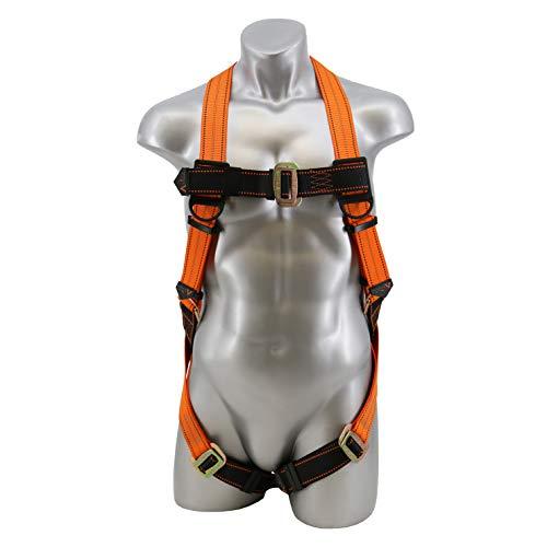 Malta Dynamics Warthog Full Body Universal Harness with Pass-Thru Leg Buckles (Small-Large), OSHA/ANSI Compliant