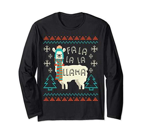 Lustiges Lama Weihnachtspullover Stil Alpaka Geschenk Langarmshirt
