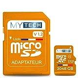 MyTech - Scheda di memoria Micro SD 2048 GB (2 TB) V1.2, capacità...