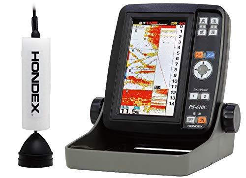 ホンデックス(HONDEX) GPS内蔵 5型ポータブル魚探 PS-610C-WP ワカサギパック
