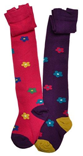 WB Socks 2 Paar Mädchen-Strumpfhosen - Blumenmuster, mode Strumpfhosen