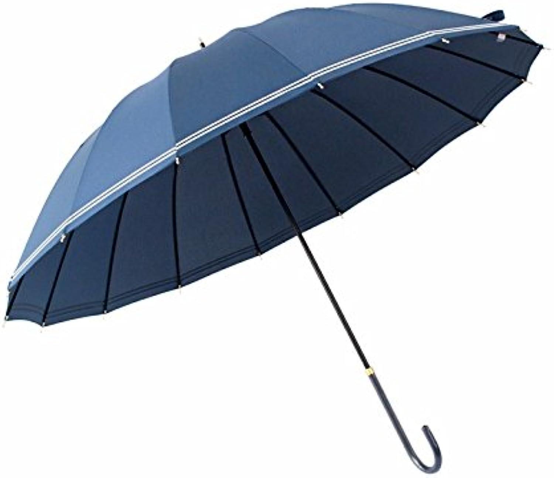 ZHUDJ A Large Umbrella Long Handle Female Retro Han Department Guosen Umbrella 16 Umbrella Sixteen Simple Japanese Men'S Creative Personality,bluee