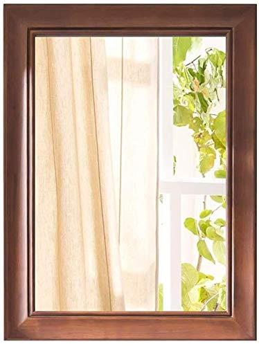 WENWEN Haushaltsspiegel Wohnzimmer Spiegel Uhren Wand Großes Holzes, Shabby Chic Schwemmholz Spiegel Mit Regal Montiert Spiegel Badezimmer-Spiegel Bad Kosmetikspiegel
