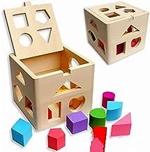 Wooden educational toys shape matching blocks toys for children