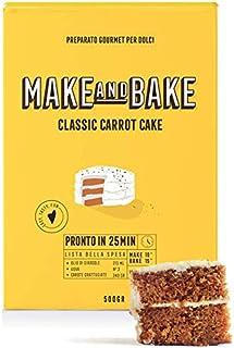 Preparato per Classic Carrot Cake [Preparato in polvere 100% naturale Made in Italy per torta di carota] Dolci americani f...