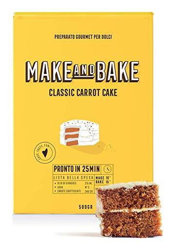 Preparato per Classic Carrot Cake [Preparato in polvere 100% naturale Made in Italy per torta di carota] Dolci americani facili e veloci