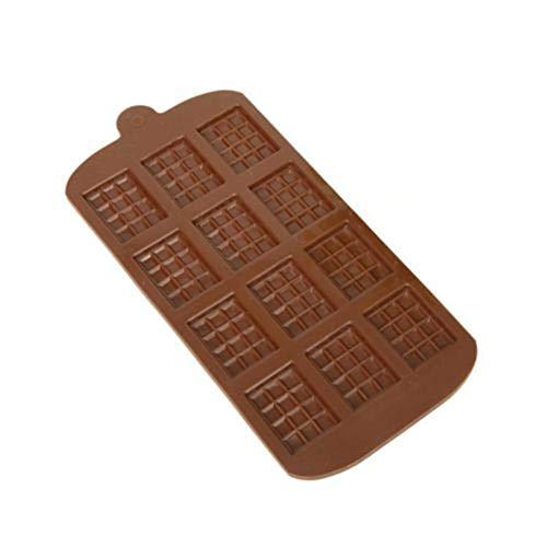 LNLW Candy mal 12 Cavity Lattice Shape 3D Silicone Chocolade Schimmel DIY Hand maken Pudding Jelly Ice Modle hulpmiddel Non-stick Snoep Maken Mold