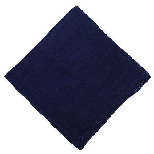 IB IB Halstuch 50x50cm Baumwolle 1A Qualität Einfarbig Bedruckbar Bestickbar Azofrei Uni Tuch Kopftuch Schultertuch Accessoire (10x, schwarz)