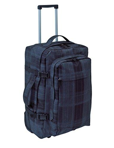 Trolley Rucksack Checker VIELE Extras Reisetasche mit leichtlaufende Skaterrollen Reiserucksack ca 52 x 32 x 22 Trolley Reisetasche