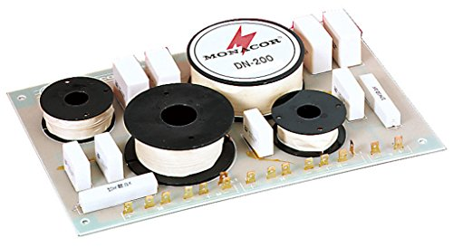 MONACOR DN-200 3-Wege-Weiche 8 ohm, Hochwertige Bauteile, Belastbarkeit 400W für den Innenbereich mit Luftspulen und Folienkondensatoren gefertigt