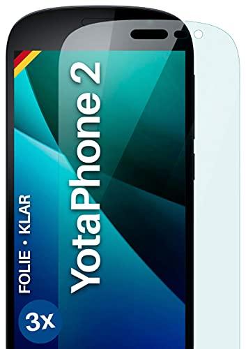 moex [3 Stück] Schutzfolie kompatibel mit Yotaphone 2 Bildschirmfolie Hüllen-Fre&lich, 0.2 mm dünne Bildschirmschutzfolie, Display Schutz extra Kratzfest - HD Ultra-Klar