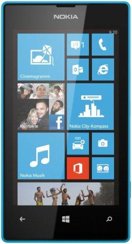 Nokia Lumia 520 - Smartphone libre (pantalla 4', cámara 5 Mp, 8 GB, 1 GHz, Windows Phone), cian [importado]