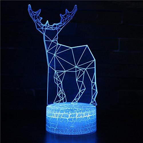 Nachtlampje giraf dieren 3D kinderen LED-lamp illusie 7 kleuren wijzigen met afstandsbediening voor kinderen verjaardagscadeau en party & slaapkamerdecoratie