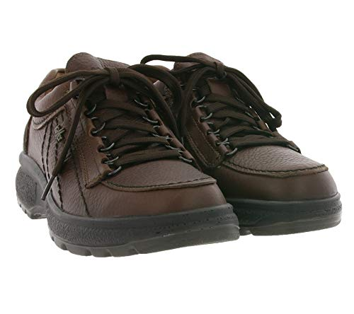 Lomer Wander-Schuhe Echtleder Halbschuhe Moderne Schnürschuhe New Valiant Freizeit-Schuhe Trend-Schuhe Braun, Größe:48