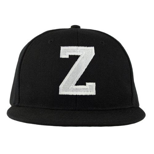 4sold ABC Letter Casquette Snapback en Noir/Blanc avec les lettres A à Z (Z)