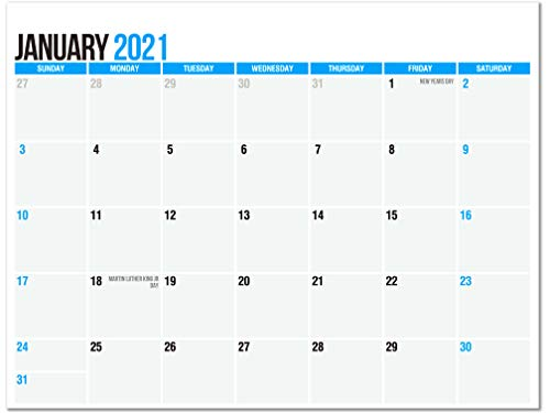 SplightPrints 2021 Magnetic Calendar Pad for Refrigerator, January 2021 to December 2021, 11 x 8.5 Inches, Thick Paper, Strong Magnets (12 Months)