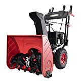 PowerSmart Snow Blower Gas Powered, 26-INCH Remove Width Gas Power Snow Thrower, LED Lights facilitate Night-time Snow Removal, 4-Stroke 212cc Gas Snow Blower, 2-Stage Electric Start Gas Snow Blower