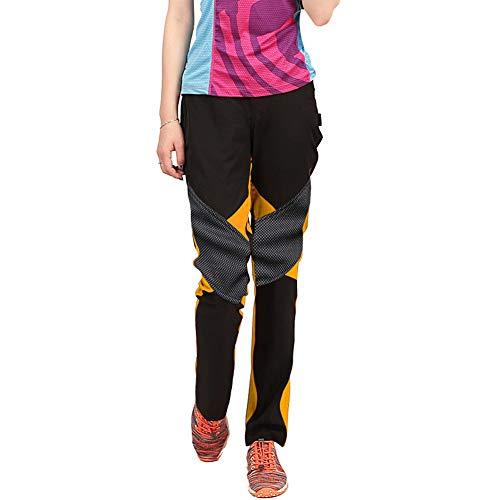 Sidiou Group Pantaloni da Trekking Pantaloni Softshell Donna Pantaloni da Arrampicata Pantaloni da Escursionismo Fleece Pantaloni Impermeabile Pantaloni da Campeggio (M, Arancione)
