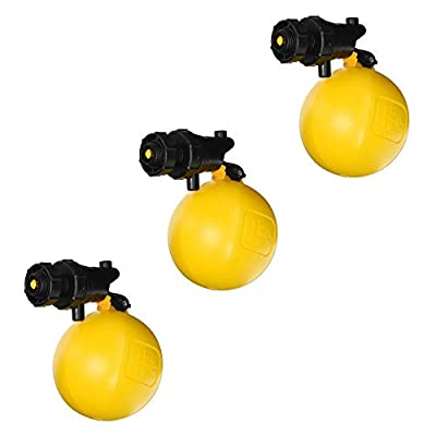 Jobe Valves J-RJV20 3/4 Inch Inlet Heavy Duty Adjustable Rojo Float Valve for Water Tank Systems, Black and Yellow (3 Pack) by Jobe Valves