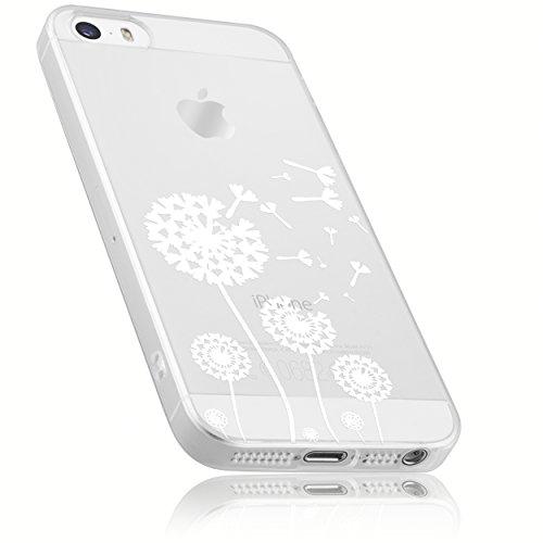 mumbi Hülle kompatibel mit iPhone SE / 5 / 5S Handy Case Handyhülle mit Motiv Pusteblume, transparent