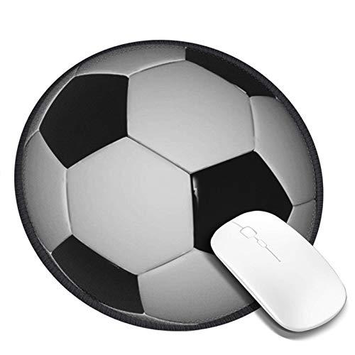 LQKSSLBO Redondo Alfombrilla De Ratón Deportes con balón de fútbol Peaktee 9, Alfombrilla Gaming, Base De Goma Antideslizante para Gamers, Pc Portátil Mouse Pad, 20cm