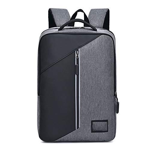 Zakelijke laptop rugzak, waterdichte en krasbestendige herenrugzak casual grote capaciteit student rugzak met USB-poort