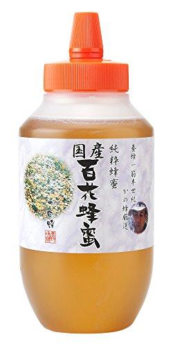かの蜂 百花 蜂蜜 1000g 完熟 (とんがり容器) B01A9R4YNM 1枚目