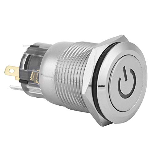 Interruptor de botón pulsador 24VDC Carcasa exterior de Metal Interruptor de botón...