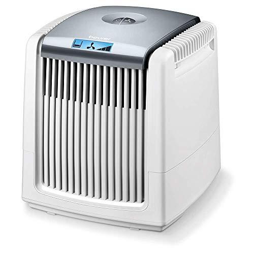 Beurer LW 230 Luftwäscher, Luftbefeuchter und Luftreiniger in einem Gerät, für Räume bis ca. 40 m², wäscht Hausstaub, Pollen, Tierhaare und Gerüche aus der Luft, weiß