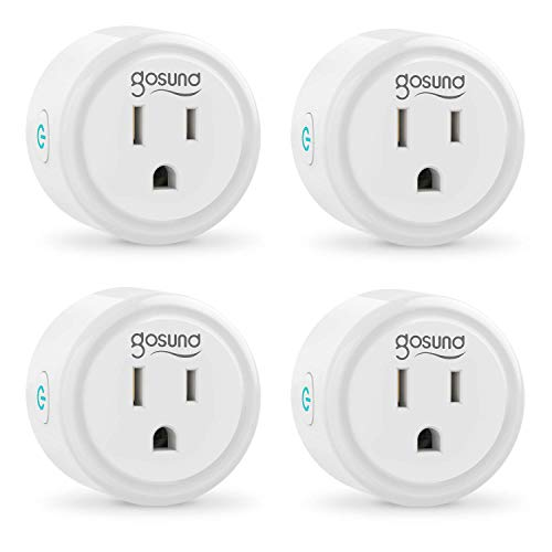 Smart Plug Works with Alexa and Google Home, Gosund WiFi Outlet Mini Socket Remote Control with Timer Function, Only Supports 2.4GHz Network, No Hub Required, ETL FCC Listed(4 Pack)