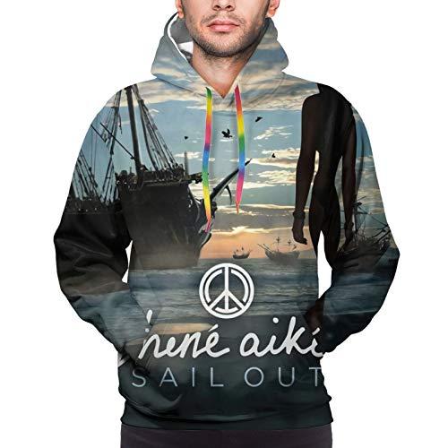 Jhene Aiko Sail Out Men Hoodie Pullover Long Sleeve Sweatshirt Graphic Hoody Winter Warm Full Zip Hood Jacket Tops Hooded Outwear Coats Large Black