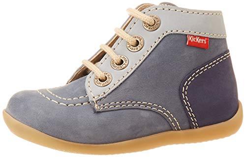 Kickers Jungen Unisex Kinder Bonbon-2 Stiefel, Blau (Bleu Tricolore 53), 23 EU