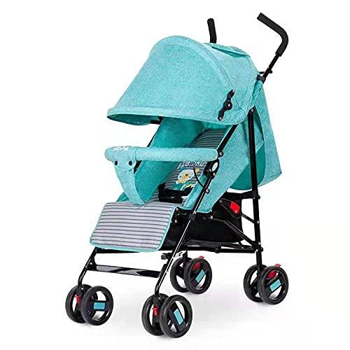 Cochecito de bebé plegable de lujo Cochecito de cochecito de bebé con muelles de absorción de golpes, alta vista Cochecito de bebé con bolsa de mamá y cubierta de lluvia (color : L)-A