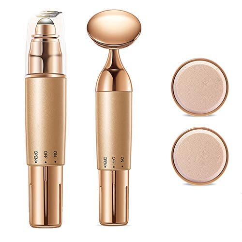 2-IN-1 gezichts- en oogstimulator, slanke lift strakker gezicht schoonheid apparaat huid spa-reiniger stimulator anti-rimpel huidverzorging oogmassage apparaat voor wallen, donkere kringen