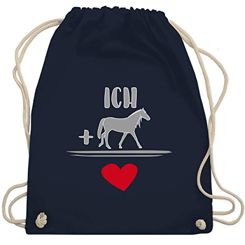 Shirtracer Pferde - Pferde-Liebe - Unisize - Navy Blau - pferde liebe turnbeutel - WM110 - Turnbeutel und Stoffbeutel aus Baumwolle