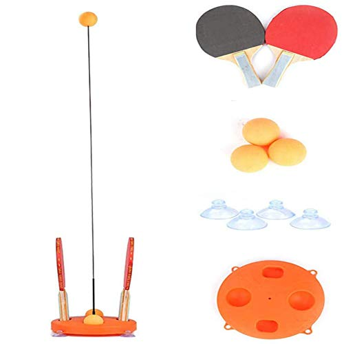 Best Bargain Table Tennis Trainer with Elastic Soft Shaft, Portable Ping Pong Tennis Set, Leisure De...