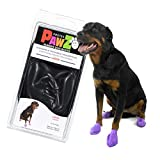 PawZ Dog Boots | Rubber Dog Booties | Waterproof Snow Boots for Dogs | Paw Protection for Dogs | 12 Dog Shoes per Pack (Large)