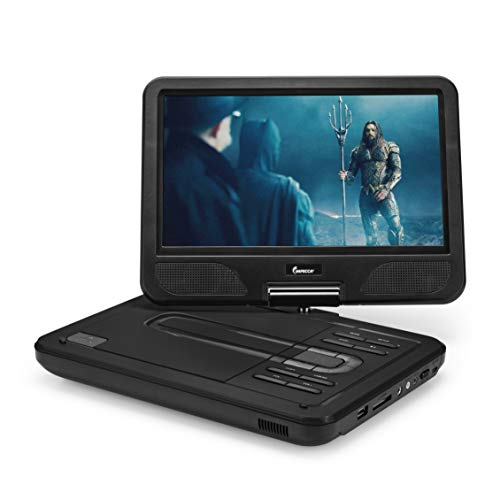"Why Choose Impecca Portable DVD Player 10.1"" Flip and Swivel Screen, USB Port and SD/SDHC Card Slo..."