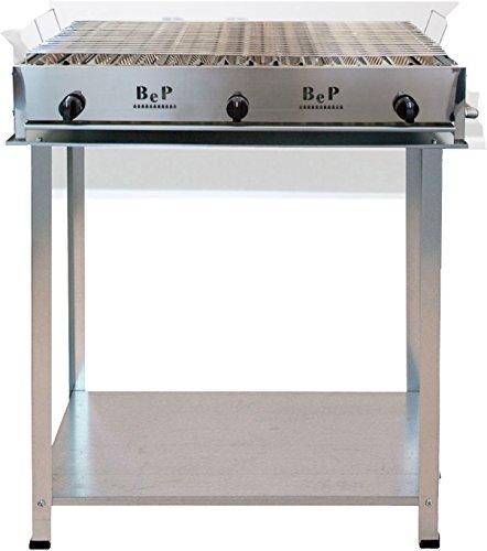 Barbecue Bep a gas acciaio inox 100% Made in Italy artigianale 3 FUOCHI